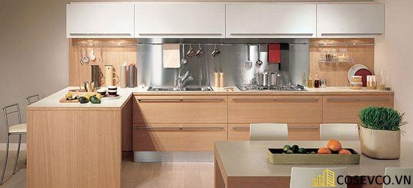 Tủ bếp chất liệu Veneer - M4