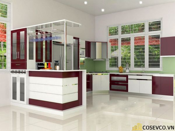 Tủ bếp chất liệu Acrylic - M3