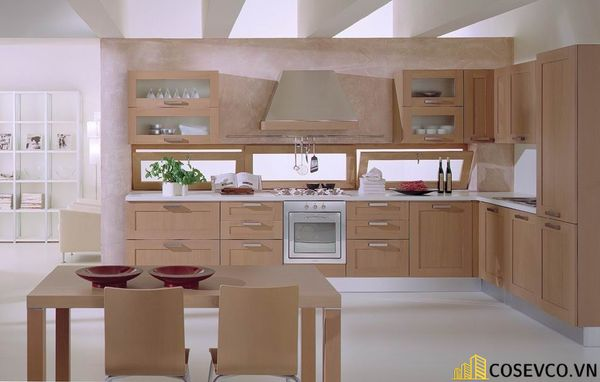 Tủ bếp chất liệu Veneer - M5