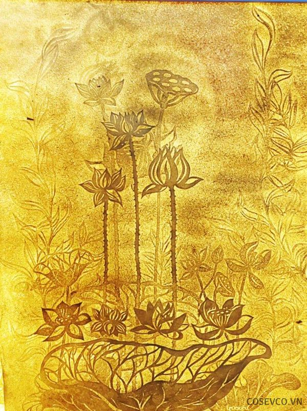 Tranh trúc chỉ hoa sen - Hình ảnh 1