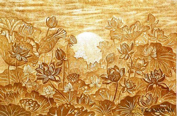 Tranh trúc chỉ hoa sen - Hình ảnh 5
