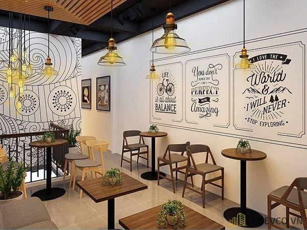 Đối với những quán cafe nhỏ bạn nên chọn cho mình những cách trang trí tối giản
