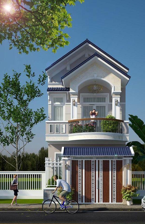 Mẫu nhà 2 tầng nông thôn 500 triệu - M14