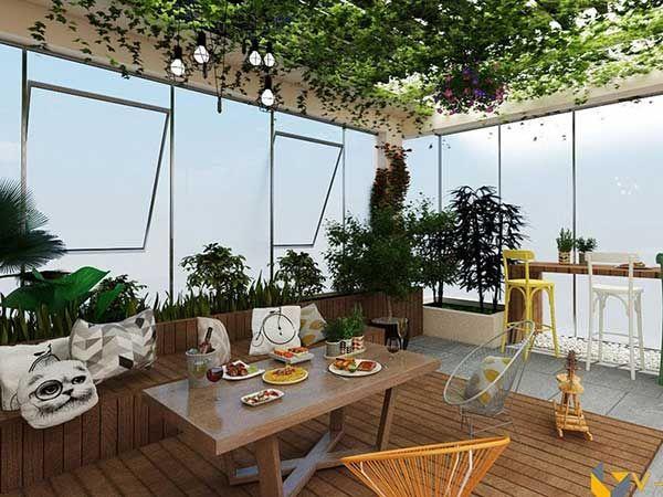 Mẫu sân thượng đẹp là không gian không thể thiếu trong các ngôi nhà