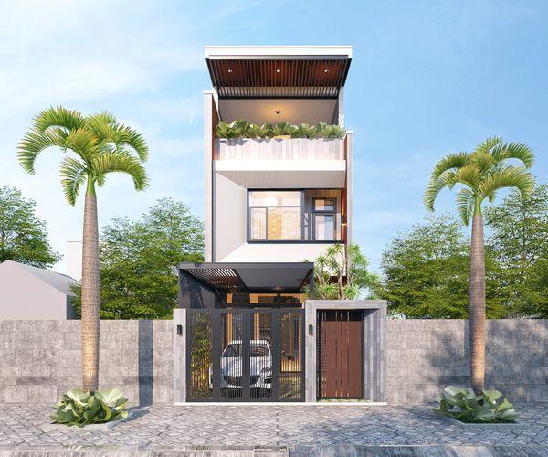 Mẫu nhà có sân thượng đẹp 2021