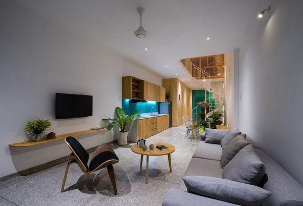 Phòng khách nhà ống đẹp đảm bảo đầy đủ công năng thẩm mỹ