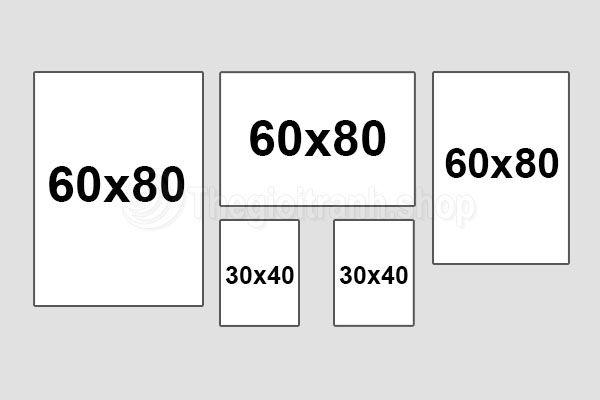 Kích thước tranh treo tường chuẩn